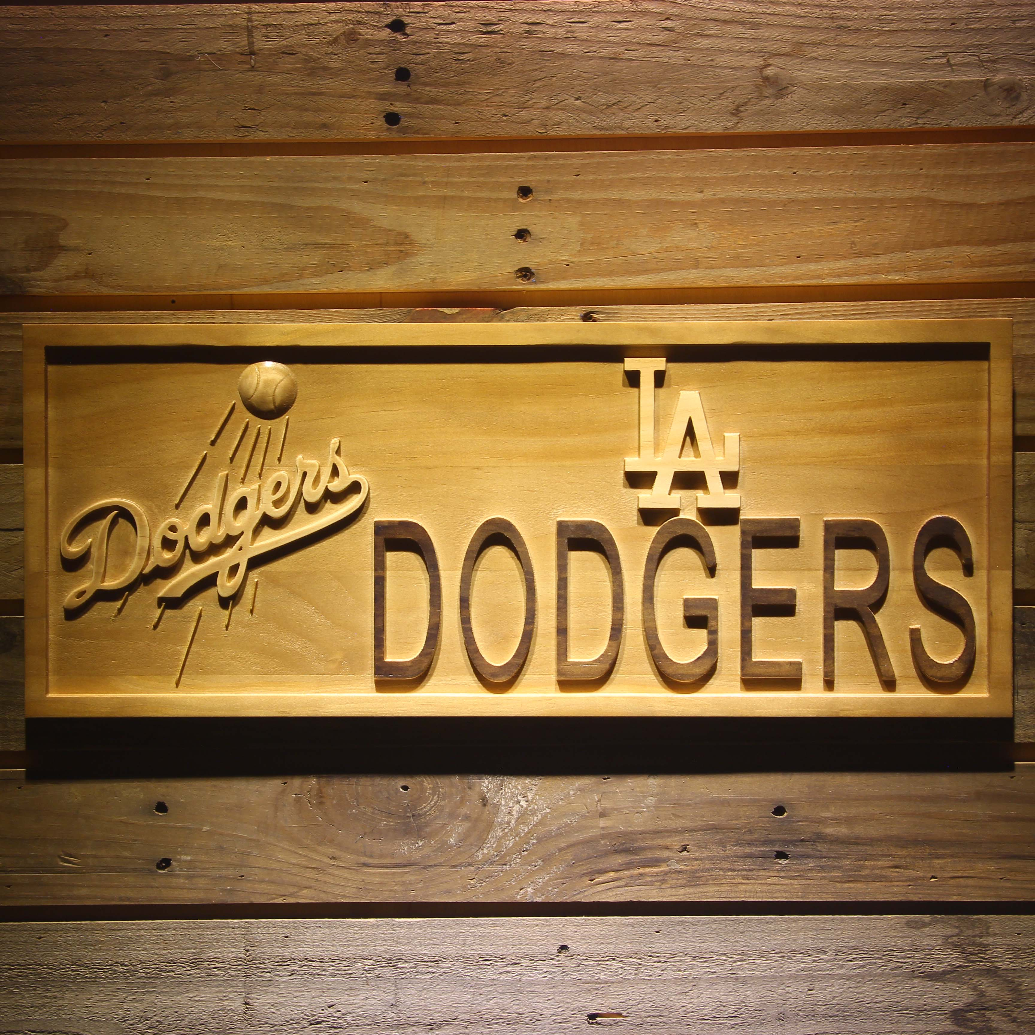 Los Angeles Dodgers 3D Wooden Sign-in Plaques & Signs from Home ...
