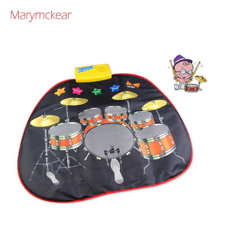 Cool Musical Toys Jazz Drum Musical Mat Muziek Toys 705x650mm Brinquedos Musicais Children Music Mat Baby Music Toys