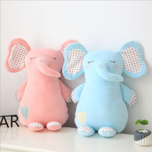 New Style Lovely Small Elephant Plush Toy Stuffed Animal Doll Pillow Creative Gift Send to Children