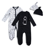 Baby Jumpsuit Newborn Baby 2PCS LOT Infant Long Sleeve Bodysuits Soft Cotton Autumn Clothing Cartoon Printed