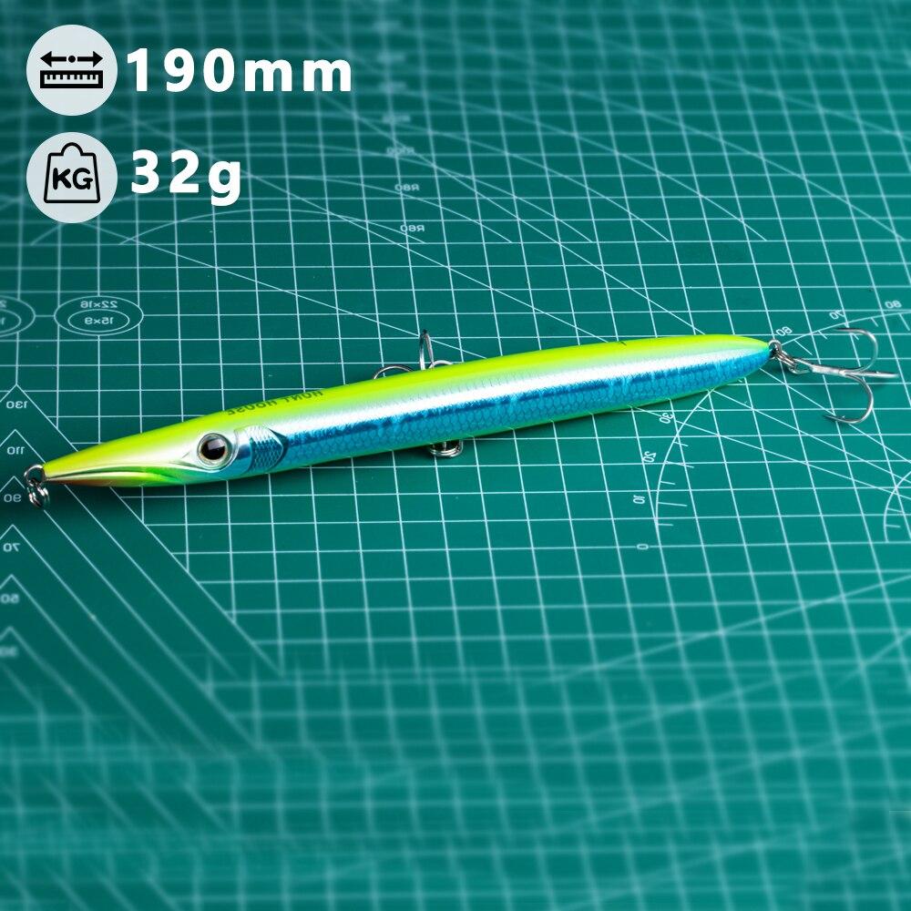 fundição lápis stickbaits para pesca leerfish e bluefish topwater iscas