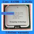 Пожизненная гарантия Core 2 Duo E4500 2.2 ГГц 2 м 800 двухъядерный настольных процессоров процессор 4500 сокет LGA 775 контакт. компьютер