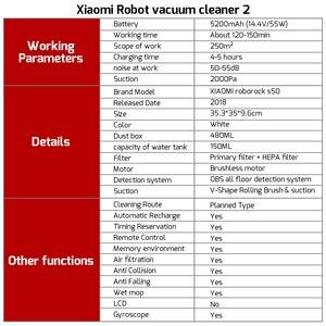 Image 5 - Roborock S50 S55 Xiao mi aspirateur 2 mi Robot pour la maison balayage automatique intelligent prévu vadrouille humide mi jia APP ue russie en Stock