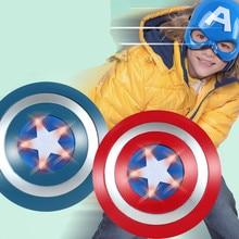 Мстители 2 Капитан Америка 32 см Световой звук щит+ маска подражать Косплэй недвижимости игрушки костюм для детей вечерние ребенка подарок для ребенка