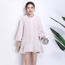 2018 New Fashion Fishtail Pendulum Fur Coat N23