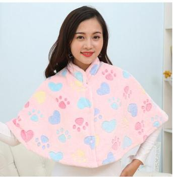 Fall Winter Flannel Thickened Shoulders Warm Sleeping Blanket Lady Shawl Male Shoulders Neck Shoulders Blanket фото