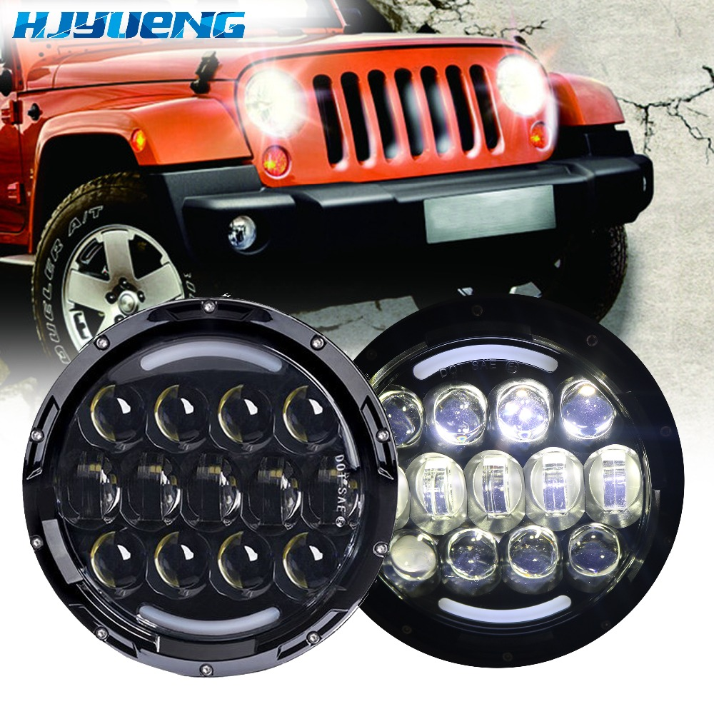 105W High Power Projector LENS DRL Lamp headlight 7''inch fog light headlamp for Land Rover Defender Jeep JK Wrangler CJ TJ defender quadro power