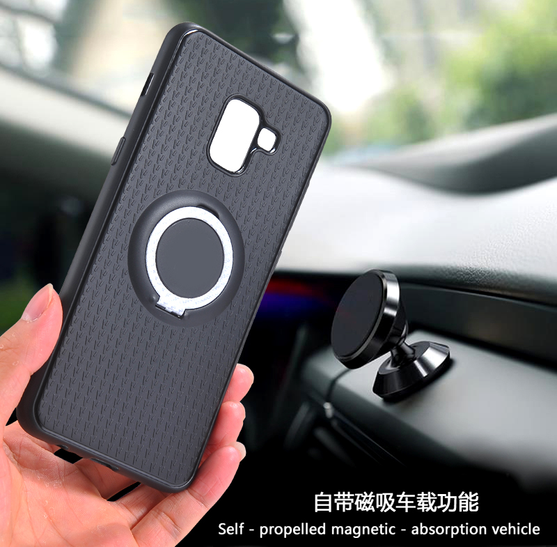For <font><b>Samsung</b></font> Galaxy Note 10 A50 A70 A9 A9S A8S A8 Plus 2018 A3 <font><b>A5</b></font> A7 2017 <font><b>Case</b></font> Car Holder Stand Magnet Bracket Finger Ring Cover image