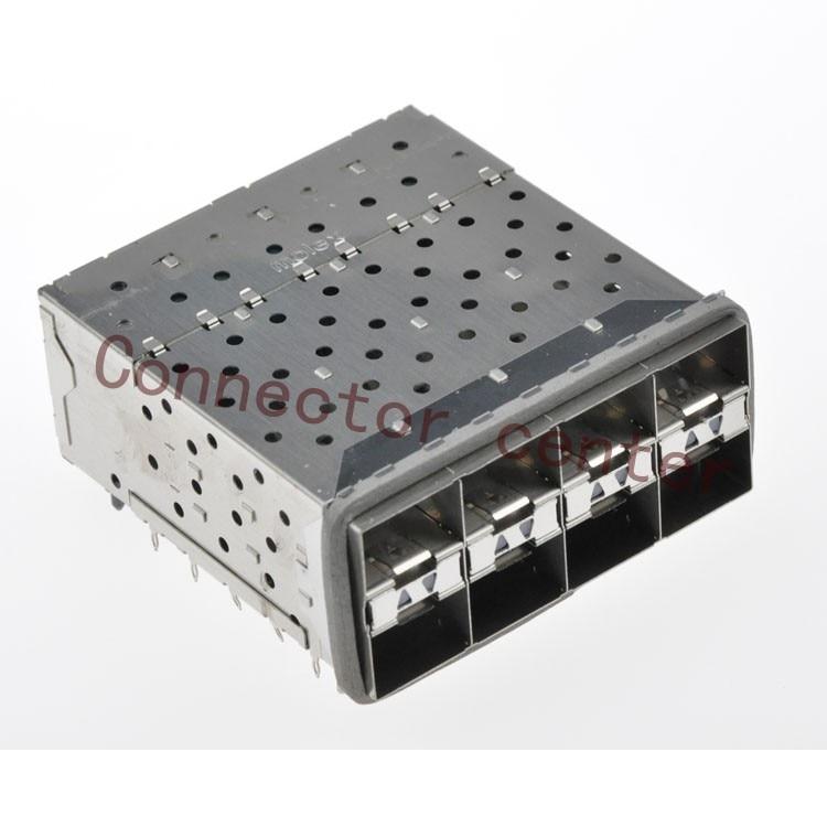 SFP SFP + Connector Voor Molex geplakt 2 by 4 Multi Port Connector met 2 Innerlijke Lightpipe Poorten 160 Circuits 760465002