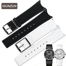 ISUNZUN Watchband For CK KOH23100/K0H23307 First Layer Genuine Leather Watch Band K0H23101/KOV231 Women And Men Watch Strap isunzun watch band for cartier w7100037 w7100041 genuine leather watch strap for men and women leather watchband free shipping