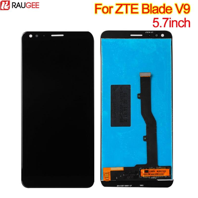 Para ZTE Lâmina V9 Display LCD Tela Sensível Ao Toque de 5.7 polegada Digitador Da Tela Do Painel De Vidro Substituição Assembleia de Tela Para ZTE Lâmina v9 lcd