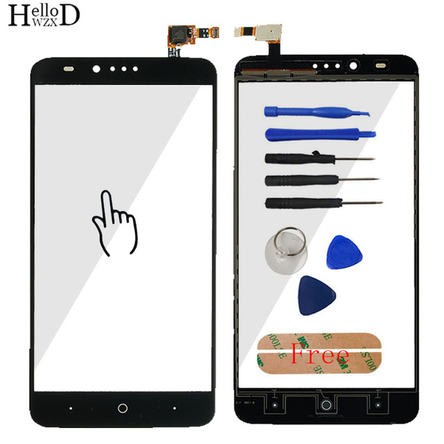 Touchscreen Front Glass For ZTE ZMax Pro Z981 Touch Screen Glass Digitizer Panel Lens Sensor Flex Cable Adhesive Gift Tools
