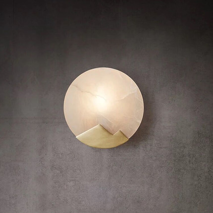 Modern marble wall lamp LED copper wall scone light bedroom lamp stairs led light gold wall mount lighting luminaire home decor title=