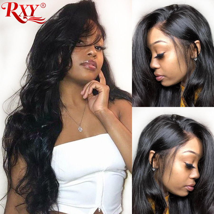 RXY 360 Lace Frontal Wig Pre Plucked With Baby Hair 250 Density Brazilian Body Wave Front Human Wigs RemyHair