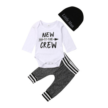 2019 New Fashion Toddler Infant Newborn Baby Girl Boy Letter Romper+Pants Outfit Clothes Bodysuit Playsuit 0-24M 1