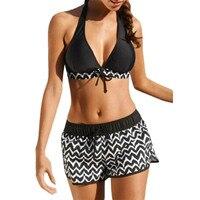 e1f30294342 2019 Swimwear Women Tankini Push Up Bra Sets Beachwear Female Sexy Two  Piece Halter Backless Swimsuits