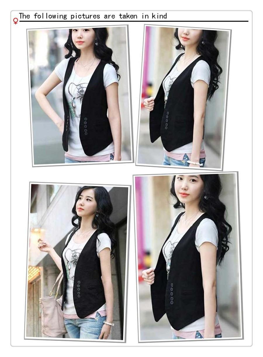 women solid black vest  (3)