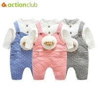Actionclub Herfst Winter Baby Romper 2 stks Set Levendige Schapen Vos Biologische Katoen Baby Meisjes Jongens Jumpers Pasgeborenen Rompertjes Kleding