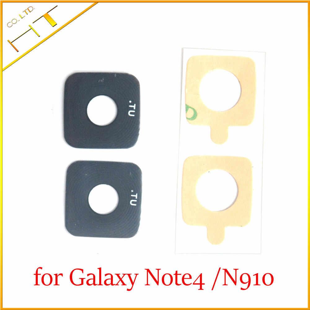 2ชิ้นแก้ววัสดุกลับกล้องหลักปกแหวนเลนส์ด้วยสติ๊กเกอร์สำหรับsamsung galaxy Note 4 N910/Note4