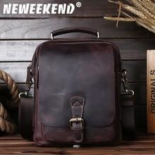 5066,Guaranteed genuine leather Men's Briefcase men messenger bags Business travel bag man leather vintage men shoulder bag