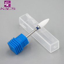 KADS 1PC Bullet Ceramic Drill Bit Nails White Ceramic Burr Bits For Manicure Professional Nail Tools Nail Mills Manicure Cutter