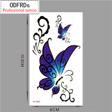 (Min Order $0.5) Waterproof Temporary Tattoo Tatoo Henna Fake Flash Tattoo Stickers Taty Tatto Lace Butterfly SYA067