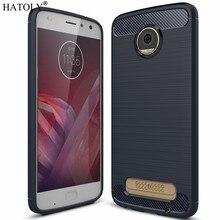 f0722e1540f HATOLY For Capa Motorola Moto Z2 Play Case Anti-knock Soft TPU Brushed  Rugger Silicone Phone Case For Motorola Moto Z2 Play(