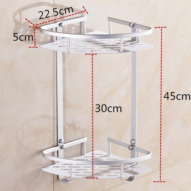 Dofaso hardware sets shower organizer rack 2/3 layers bath corner ...