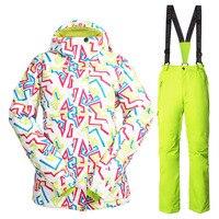 Snowboarding Suit Women Brands Winter Thick Warm Windproof Waterproof Breathable Snow Ski Jachet Pants