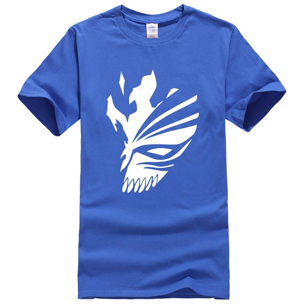 Blue Bleach T-Shirt Anime in White Print