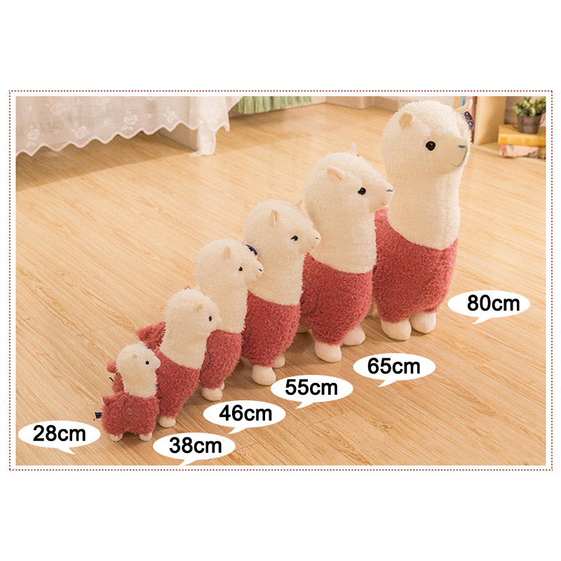 Hot Selling 28/38/46/55/cm Kawaii Alpaca Plush Sheep Kids Toy Doll Llama Stuffed Plush Soft Doll Cushion Christmas Gift