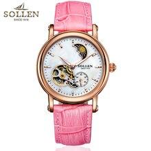 Womens Luxury Fashion Watches Automatic Tourbillon Watch Leather Strap Watch Relogio Feminino