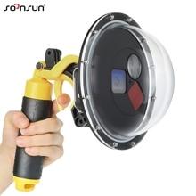 SOONSUN 60M filtre de plongée commutable dôme Port boîtier étanche avec gâchette pour GoPro HERO 7 6 5 noir Go Pro 7 accessoire