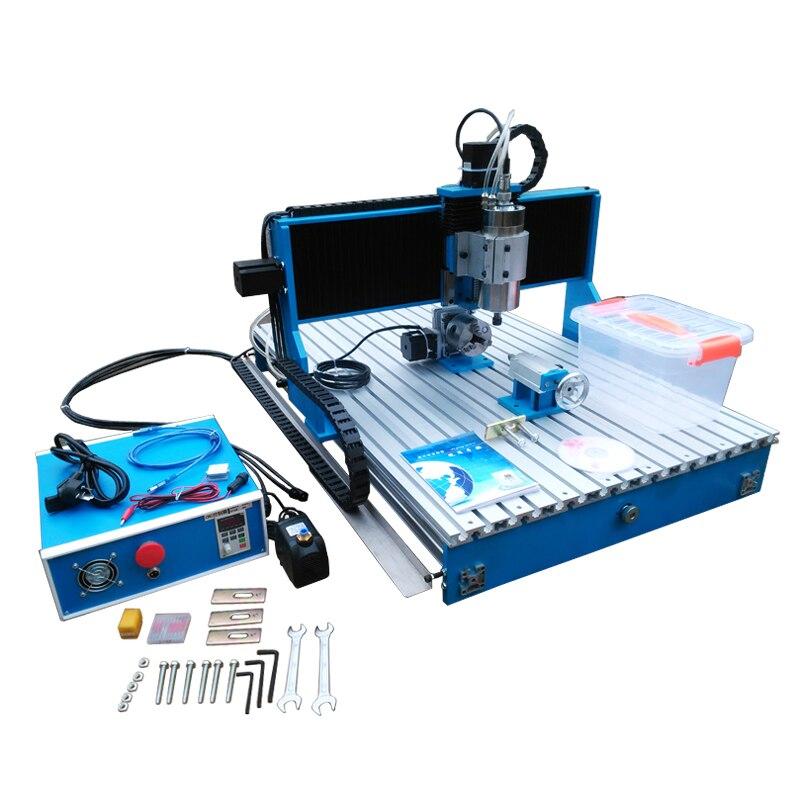 LY CNC 6090 1500W axe linéaire Guide Rail 4 axes bois CNC routeur 3 axes métal gravure perceuse