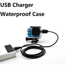 Spor kamera aksesuarları su geçirmez kılıf şarj cihazı kabuk ile USB kablosu SJCAM SJ4000 hava Sj7000 C30 EKEN H9 H9R motosiklet için