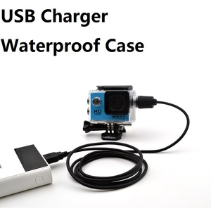 Image 1 - Sport Camera Accessories Waterproof Case Charger shell With USB Cable for SJCAM SJ4000 Air Sj7000 C30 EKEN H9 H9R For Motocycle