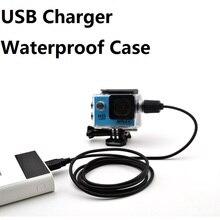 ספורט אביזרי מצלמה עמיד למים מקרה פגז מטען עם כבל USB עבור SJCAM SJ4000 אוויר Sj7000 C30 EKEN H9 H9R עבור motocycle