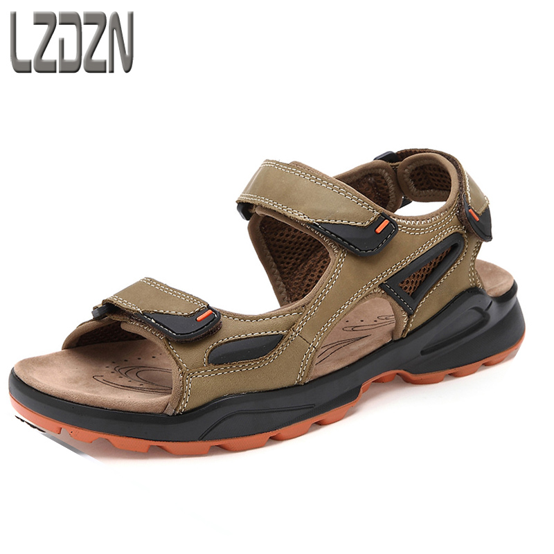 2017 new junior high school students, men and adolescents, leather sports sandals, summer men's shoes, summer children, large psychosomatic symptoms in children and adolescents