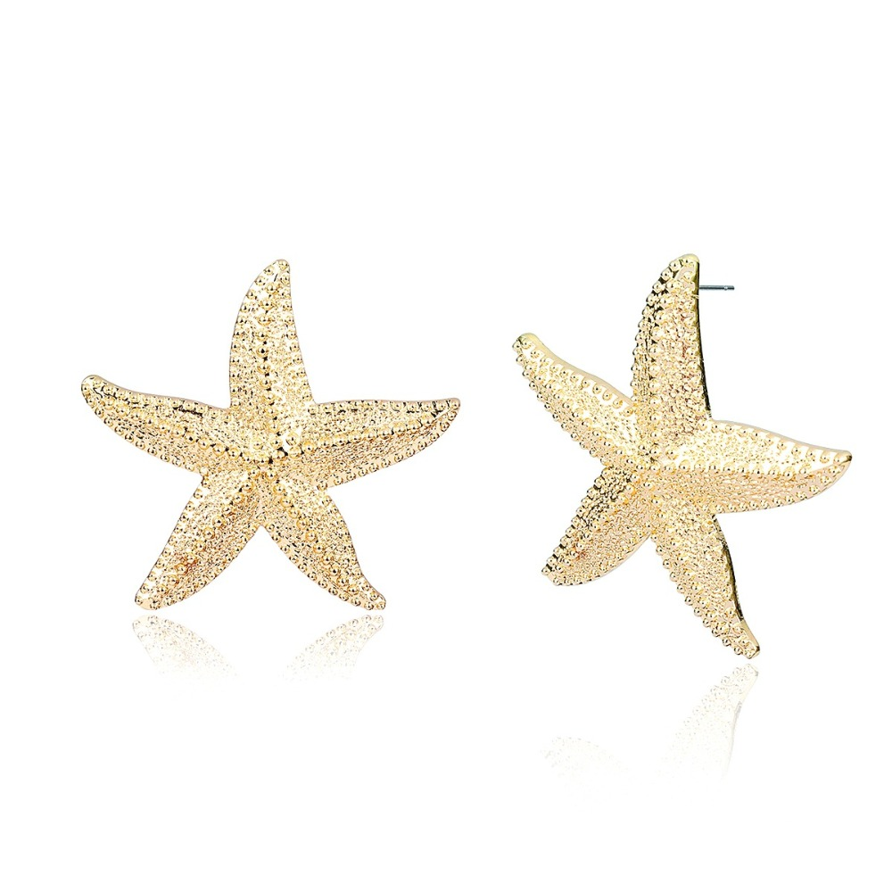 Fashion Vintage Starfish Stud Earrings Maxi Earrings For Women accessories Jewelry Brincos Grandes Wholesale in Stud Earrings from Jewelry Accessories