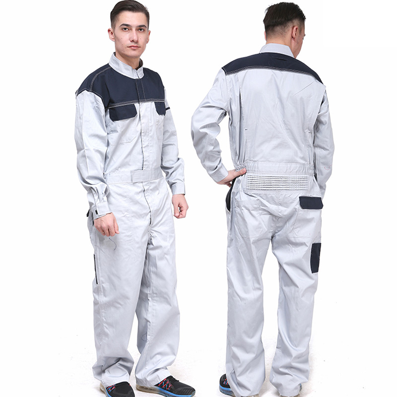 Men's 100% cotton grey workwear uniform mining work wear overalls for mechanic carpenter repairman