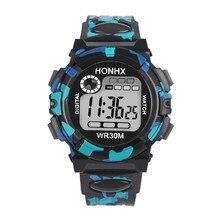 HONHX Multifunction Chidren Digital Watches Boys Girls Child Rubber Sports Electronic Wrist Watch Kids LED Date Clock for kids