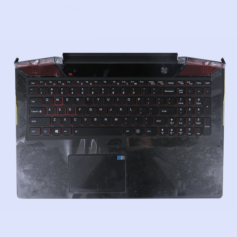 95New original laptop Upper cover Palmrest with US Version keyboard for <font><b>Lenovo</b></font> IdeaPad <font><b>Y700</b></font> <font><b>Y700</b></font>-15 <font><b>Y700</b></font>-15ISKK image