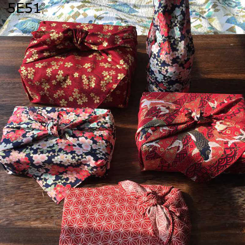 Estilo japonês envoltório pano lenço furoshiki/japão tradição clássica impresso/muitos usos