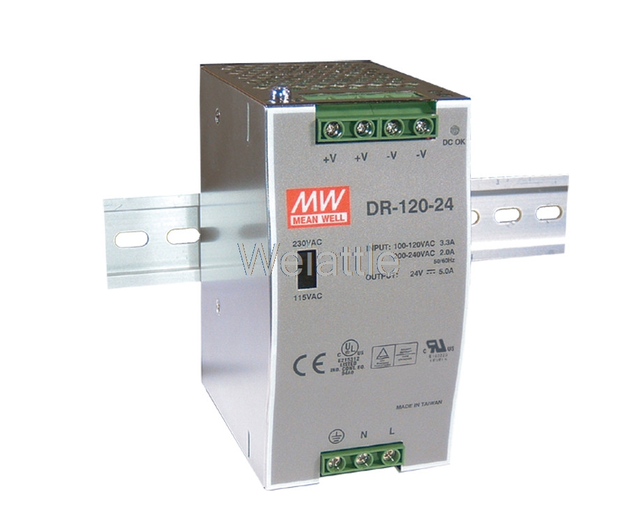 цена на MEAN WELL original DR-120-48 48V 2.5A meanwell DR-120 48V 120W Single Output Industrial DIN Rail Power Supply