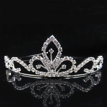 AINAMEISI Princess Crystal Tiaras and Crowns Headband Kid Girls Love Wedding Party Accessiories Hair Jewelry 1