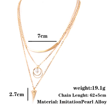 Single Pearl Necklace Gold Color Chain