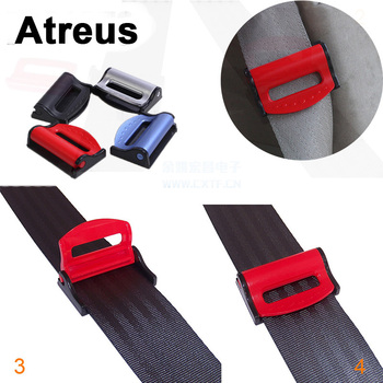 Atreus 2PC For Mercedes benz W204 W203 W211 AMG Mini cooper Skoda octavia a5 Car Safety Belt Clip Seat Belt Holder Cover Sticker image