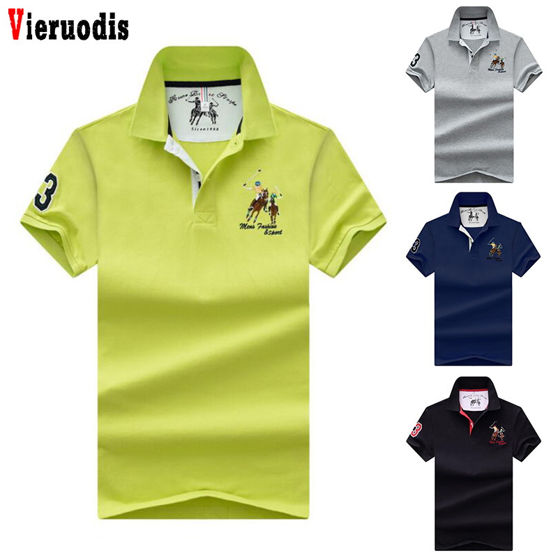 Business plus size   polo   Shirts men short sleeves   polo   shirt Men Pure color embroidery lapel soft   Polo   shirts High Quality Tops
