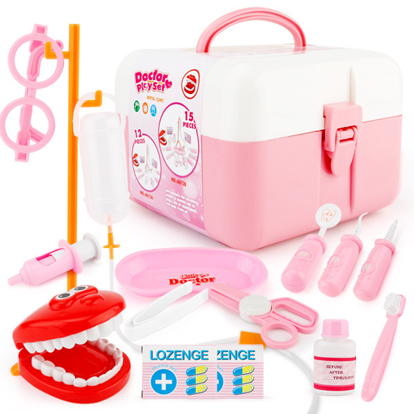 Childrens play toy girl simulation medicine box medical kit doctor toy girl set injection stethoscope