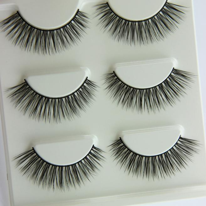 Best Deal 3 Pair Natural Look False Eyelashes Voluminous Eyelashes
